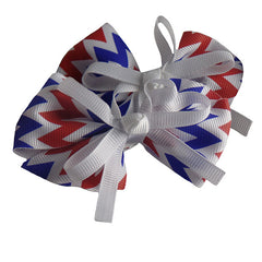 Americana Hair Bows for Girls and Teams - Gifts Are Blue - 3