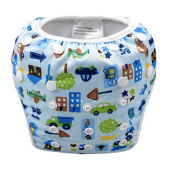 Leakproof Washable Reusable Swim Diapers For Kids 0 to 3 Years - Gifts Are Blue - 2
