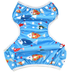 2 Pack Leakproof Reusable Swim Diapers, 0 to 3 years - Gifts Are Blue - 9