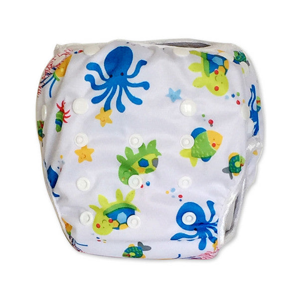 Leakproof Washable Reusable Swim Diapers For Kids 0 to 3 Years - Gifts Are Blue - 14