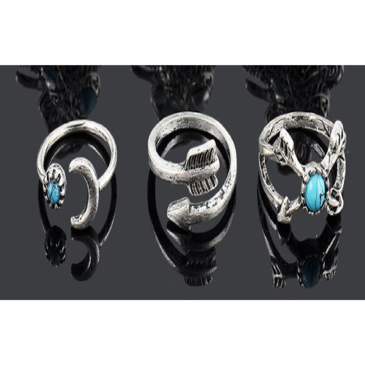 Ring Set Stylish Vintage Boho Ring Set Arrow 6pcs Loose Rings