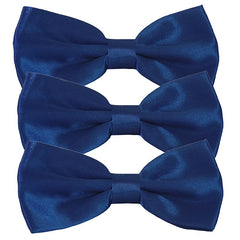 Mens Smooth Satin Feel Formal Pre-Tied Bow Tie Sets - Gifts Are Blue - 2
