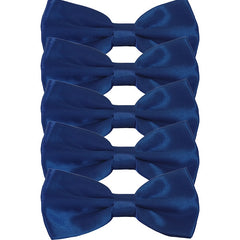 Mens Smooth Satin Feel Formal Pre-Tied Bow Tie Sets - Gifts Are Blue - 8