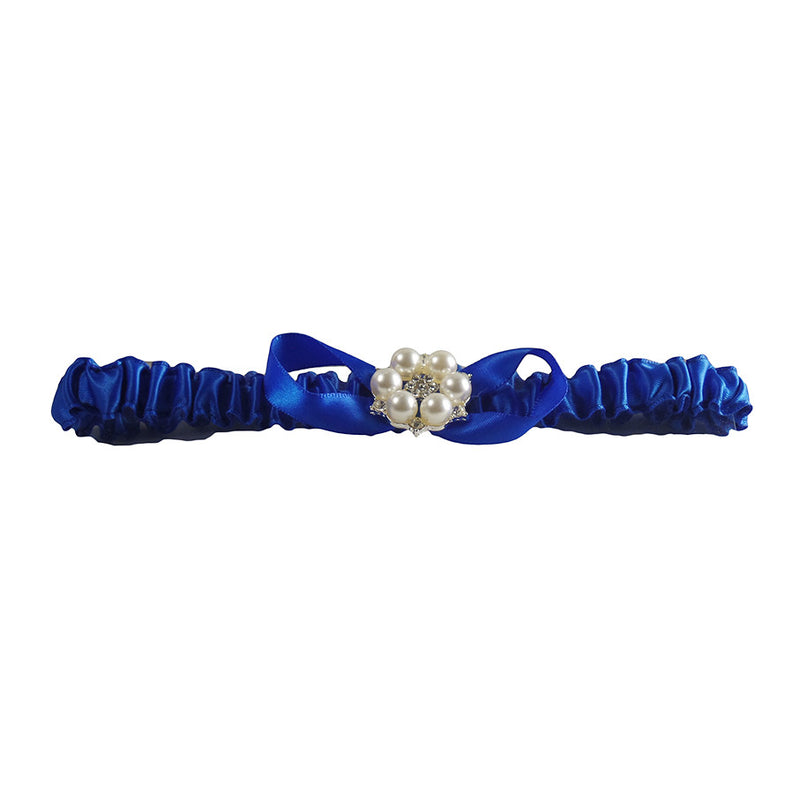 Royal Blue Bridal Wedding Garter Set