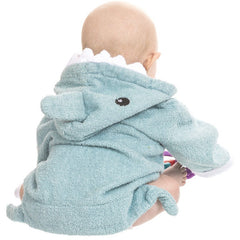 Blue Shark Hooded Kids Bath Robe Towel - Gifts Are Blue - 2