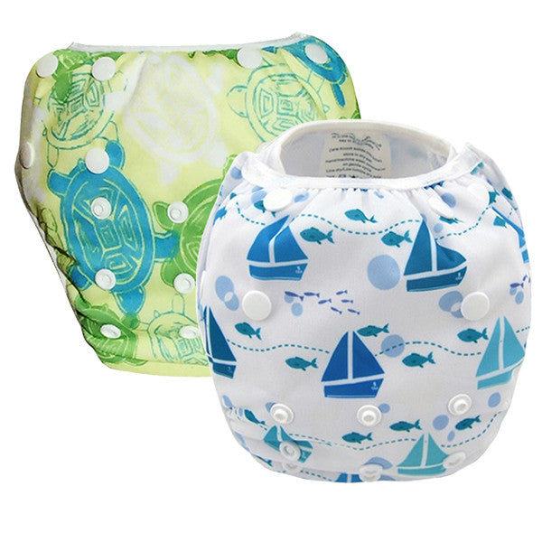 2 Pack Leakproof Reusable Swim Diapers, 0 to 3 years - Gifts Are Blue - 6