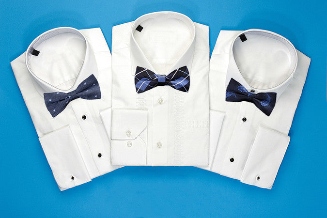Pre-Tied Fashionable Blue Bow Ties - Gifts Are Blue - 2