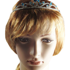 Silver Tiara with Crystals and Sky Blue Rhinestones - Gifts Are Blue - 2