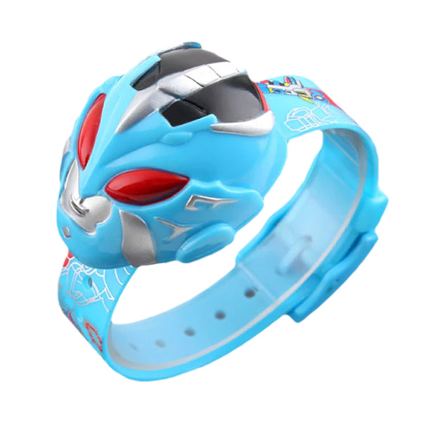 SKMEI Boys Cartoon Hero Digital Watch for Ages 3 to 7, 1239, Round, Light Blue