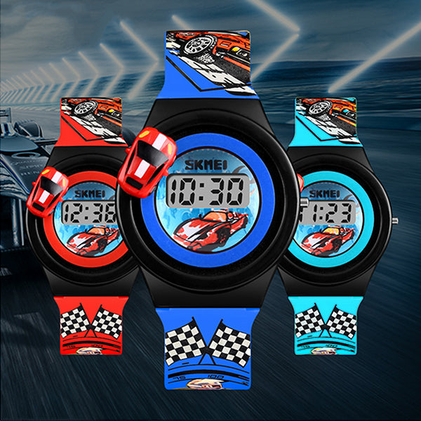 SKMEI Boys Digital Watch with Rotatable Car, all SKUs