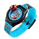 SKMEI Boys Digital Watch with Rotatable Car, Light Blue