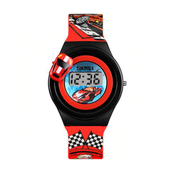 SKMEI Boys Digital Watch with Rotatable Car, 4 to 8 year olds