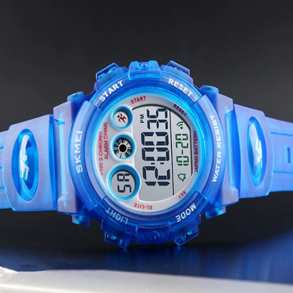SKMEI Kids Digital Watch, 50M Waterproof, Sports, Blue
