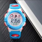 SKMEI Kids Digital Watch, 50M Waterproof, Sports, White
