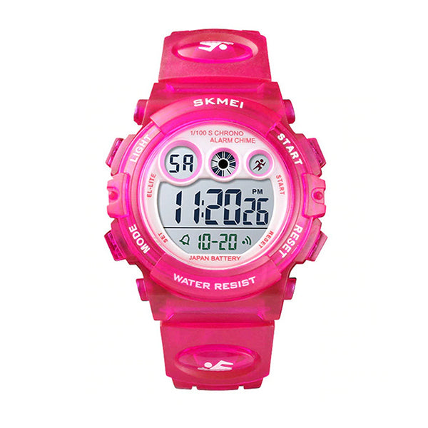 SKMEI Kids Digital Watch, 50M Waterproof, Sports, LED Light, Main, Rose Pink