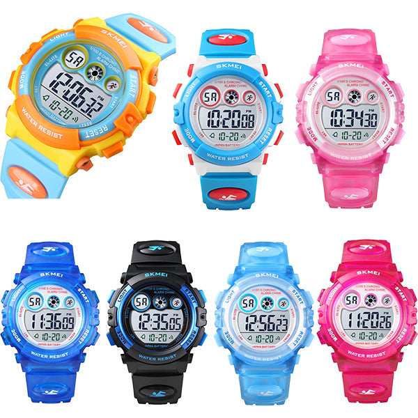 SKMEI Kids Digital Watch, 50M Waterproof, Sports, LED Light, All Styles, all SKUs