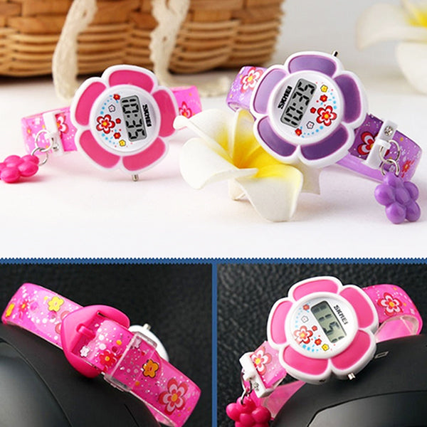 SKMEI Girls Cute Flower Digital Watch with Charm, 4 to 7 year olds, Lifestyle, all SKUs