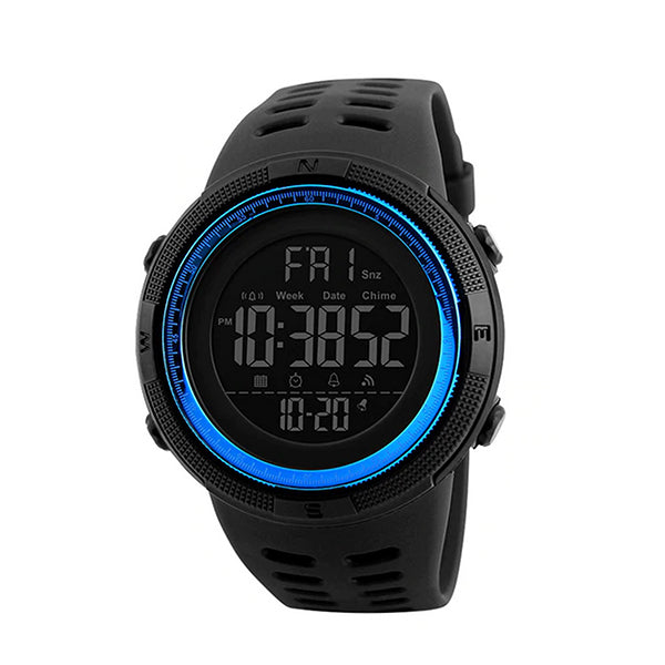 SKMEI Mens Digital Multifunctional Sports Watch, 50M Water Resistant, Main, Blue/Black