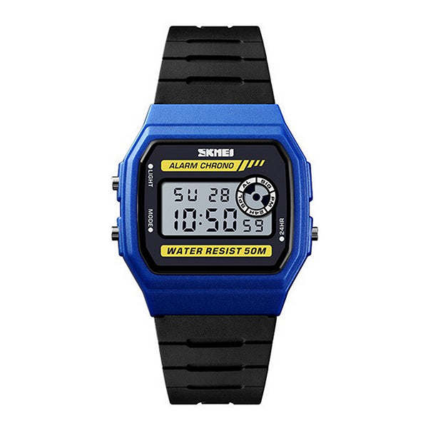SKMEI Unisex LED Digital Sport Silicone Watch, 50M Water Resistant, Main, Blue