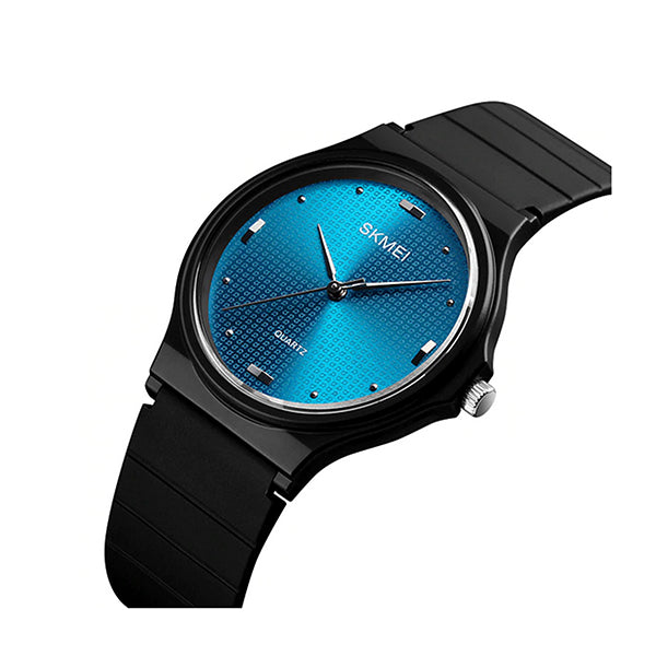 SKMEI Womens Casual Silicone Watch, 30M Water Resistant, Main, Blue/Black