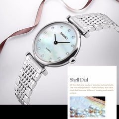 SKMEI Womens Elegant Fashion Watch w Rhinestones, shells, all SKUs