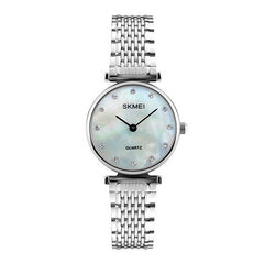 SKMEI Womens Elegant Fashion Watch w Rhinestones, 30M Waterproof