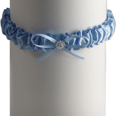 Solid All Blue Bride Wedding Toss Garter - Gifts Are Blue - 2