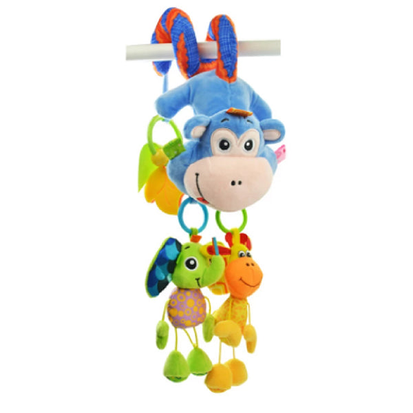 Sozzy Plush Baby Toy Hanging Monkey for Crib or Stroller, Main