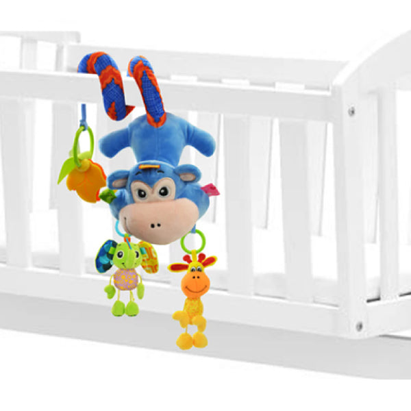 Sozzy Plush Baby Toy Hanging Monkey for Crib or Stroller, Closeup