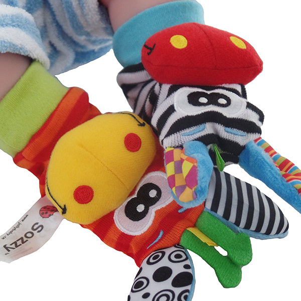 Toys For Feet : Baby rattle toys pair of wrist rattles or foot socks