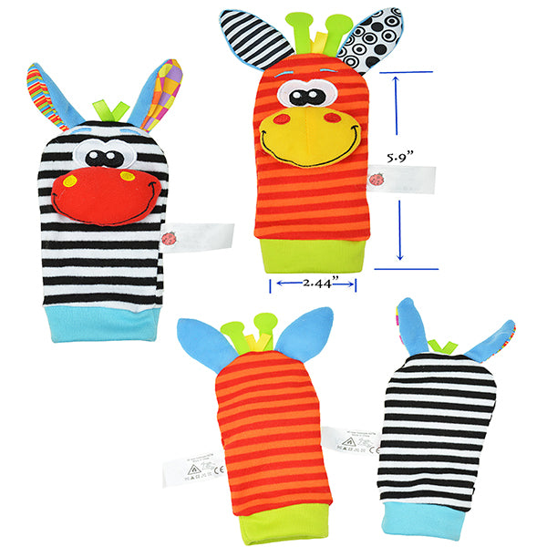 Baby Rattle Toys 1 Pair Of Wrist Rattles Or Foot Socks