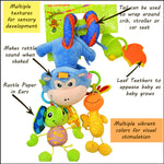 Sozzy Plush Baby Toy Hanging Monkey for Crib or Stroller, Details