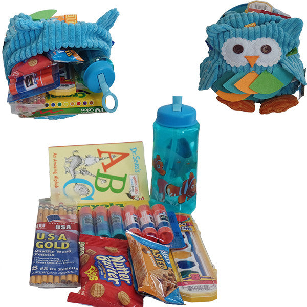 Toddler & Preschooler 3D Owl Backpack - Gifts Are Blue - 5
