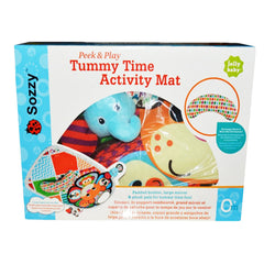 Sozzy Peek and Play Tummy Time Activity Mat - Gifts Are Blue - 5
