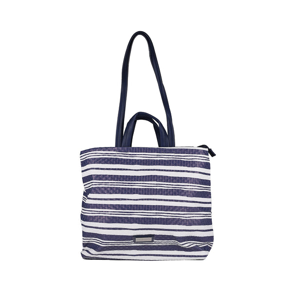 Pierre Cardin Blue Navy Striped Shopping Bag - BY12_14474