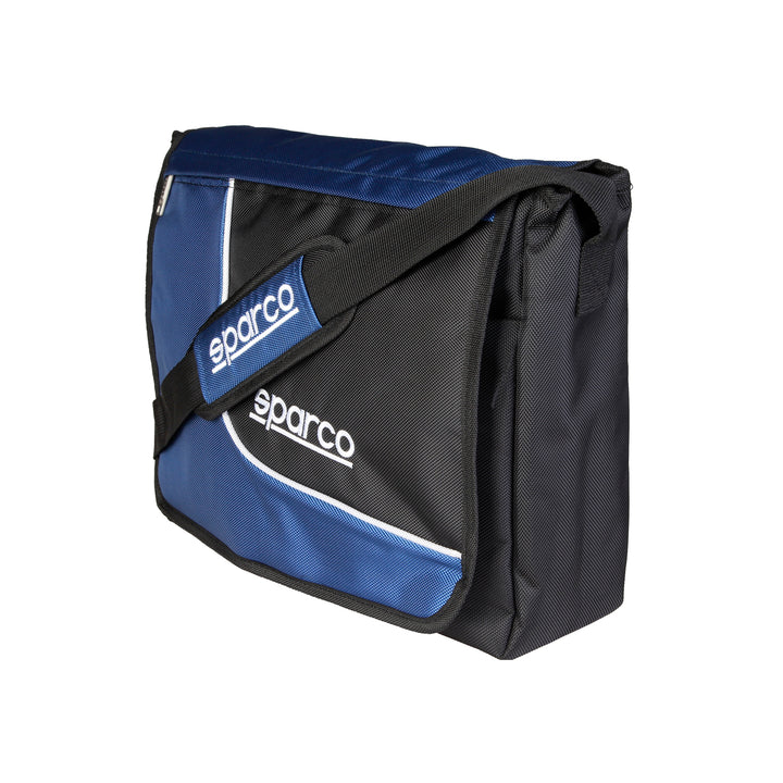 Sparco Blue Crossbody Messenger Style Laptop Bag - SL, Sideview, Blue