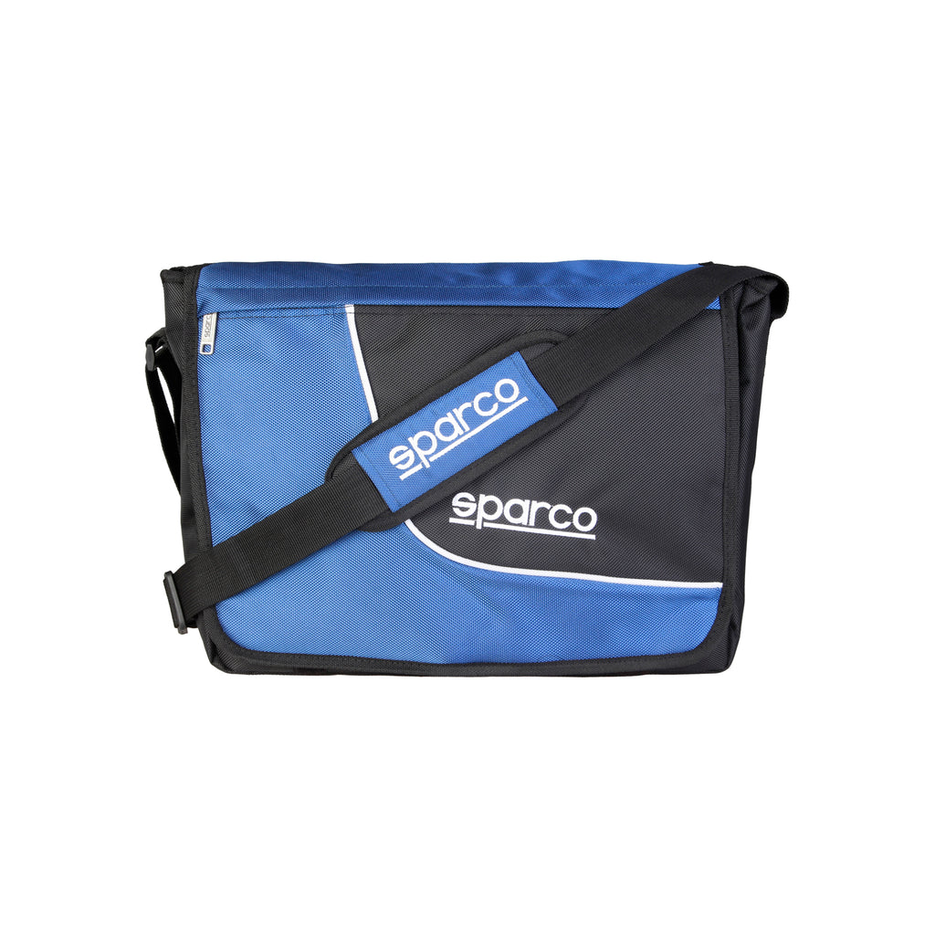 Sparco Blue Crossbody Messenger Style Laptop Bag - SL, Front, Blue