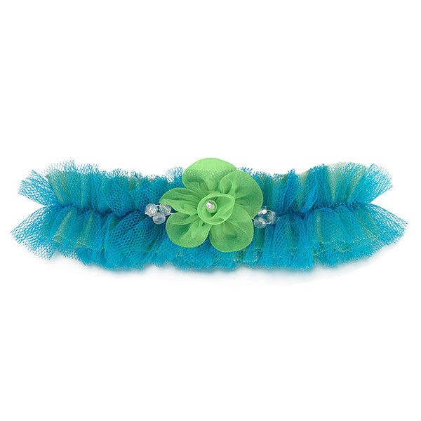 Stunning Blue And Green Garter - Gifts Are Blue