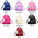 Stylish Plush Backpack with Teddy Bear Charm, Colors, all SKUs