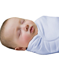 SwaddleMe Summer Cotton Newborn Baby Sleepsack Wrap - Gifts Are Blue - 1