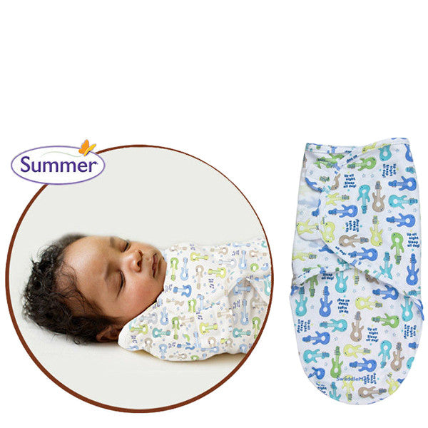 SwaddleMe Cotton Newborn Infant Baby Wrap Sleepsack - Gifts Are Blue - 6