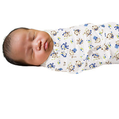 SwaddleMe Cotton Newborn Infant Baby Wrap Sleepsack - Gifts Are Blue - 4