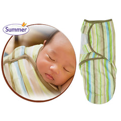 SwaddleMe Cotton Newborn Infant Baby Wrap Sleepsack - Gifts Are Blue - 7