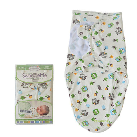 SwaddleMe Cotton Newborn Infant Baby Wrap Sleepsack - Gifts Are Blue - 5