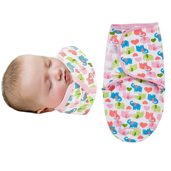 SwaddleMe Cotton Newborn Infant Baby Wrap Sleepsack - Gifts Are Blue - 9