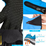 Touchscreen Anti-Slip Waterproof Outdoor Sports Gloves - Gifts Are Blue - 4