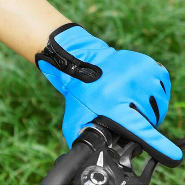 Touchscreen Anti-Slip Waterproof Outdoor Sports Gloves - Gifts Are Blue - 5