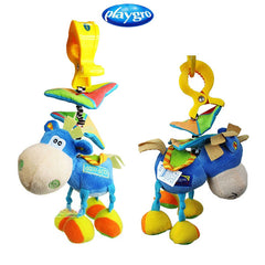 Bed Mobile or Stroller Toy Donkey Rattle for Baby - Gifts Are Blue - 1