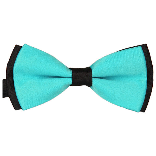 Mens Blue and Black Formal Event Pre-Tied Bow Ties - Gifts Are Blue - 4