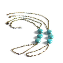 Womens Barefoot Sandal with Turquoise Medallions, Large, Size 11 - 13 - Gifts Are Blue - 1